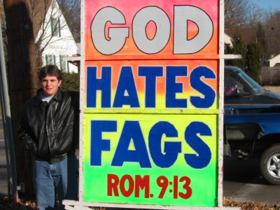 According to the Westboro Baptist Church, what does God hate?